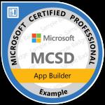 Microsoft MCSD Badge