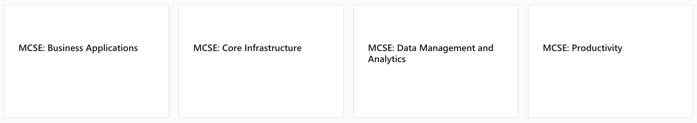 Microsoft MCSE Certifications